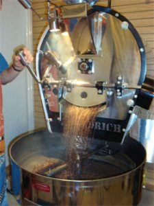 Fresh Roasted, Coffee In Roaster, Small Batch, Coffee Fundraiser, giving bean products